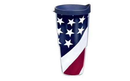 AMERICAN FLAG 24OZ W/LID