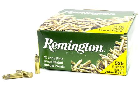 REMINGTON 22LR 36 gr Hollow Point Golden Bullet Value Pack 525 Rounds