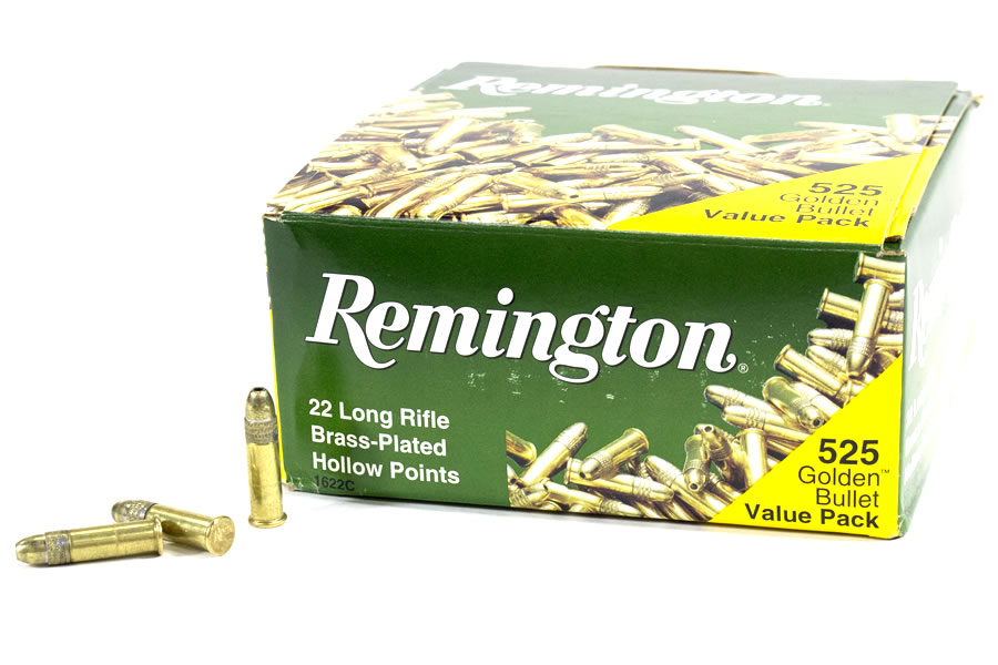 22lr 36 gr hollow point golden bullet value pack 525 rounds