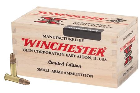 WINCHESTER AMMO 22LR 36 gr Copper Plated HP 500 Rounds in Wooden Box (Limited Edition)