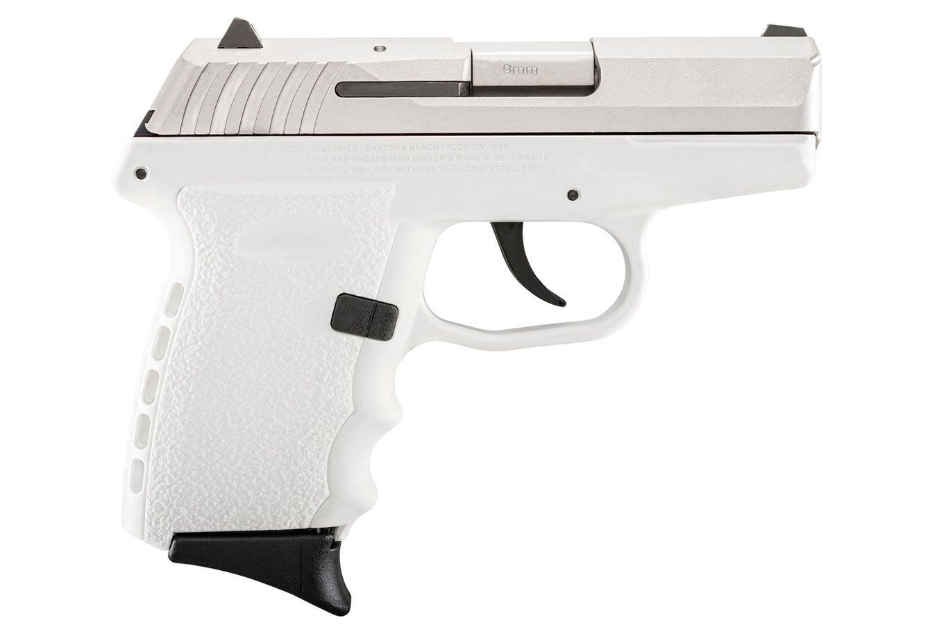 SCCY CPX-2 9MM WHITE PISTOL STAINLESS SLIDE