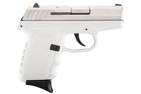 SCCY CPX-2 9mm White Pistol with Stainless Slide