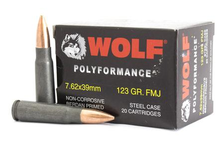 Wolf Performance Ammo Wolf 7.62x39MM 123grain FMJ 20 Round Box 76231