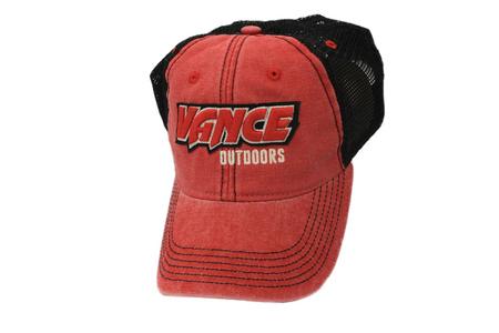 VANCE OUTDOORS RAISED LOGO HAT RED/BLACK