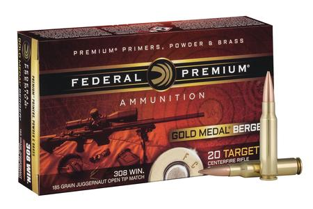 Federal 308 Win 185 gr Berger Juggernaut OTM Gold Medal 20/Box