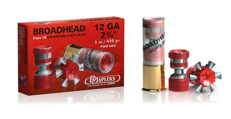 12 GAUGE 2 3/4 1 OZ BROADHEAD DUPO 5/BOX