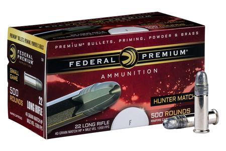22LR 40GR HOLLOW POINT HUNTER MATCH