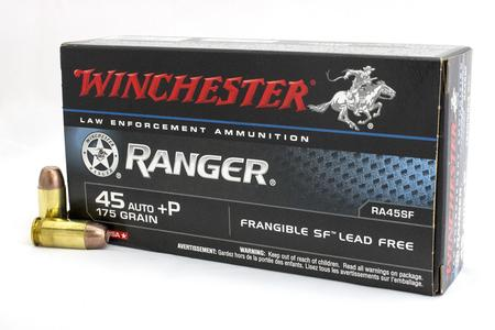 Winchester 45 ACP +P 175 gr Ranger Frangible SF Police Trade Ammo 50/Box