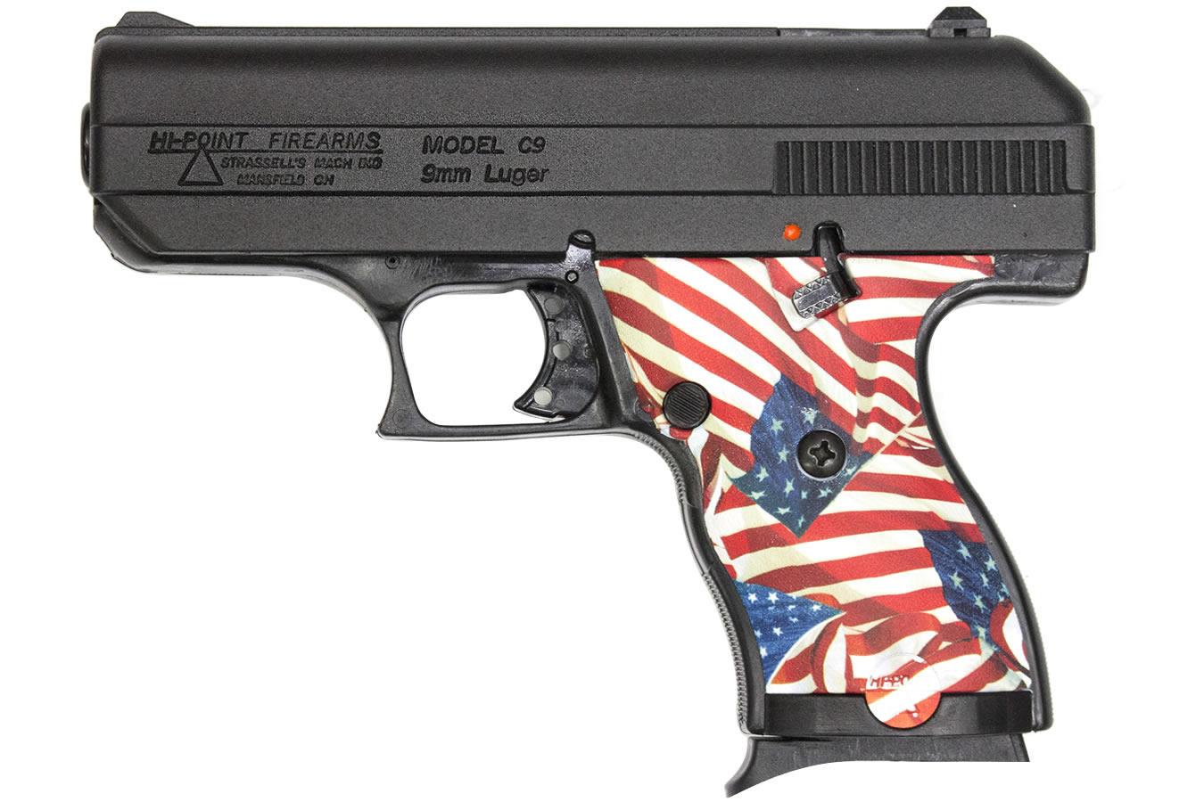 C9 9mm Patriot Pistol with American Flag Grip