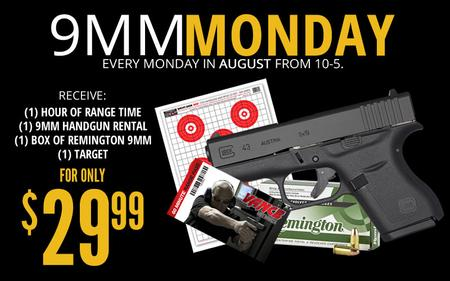 9MM MONDAY SHOOTING RANGE PACKAGE