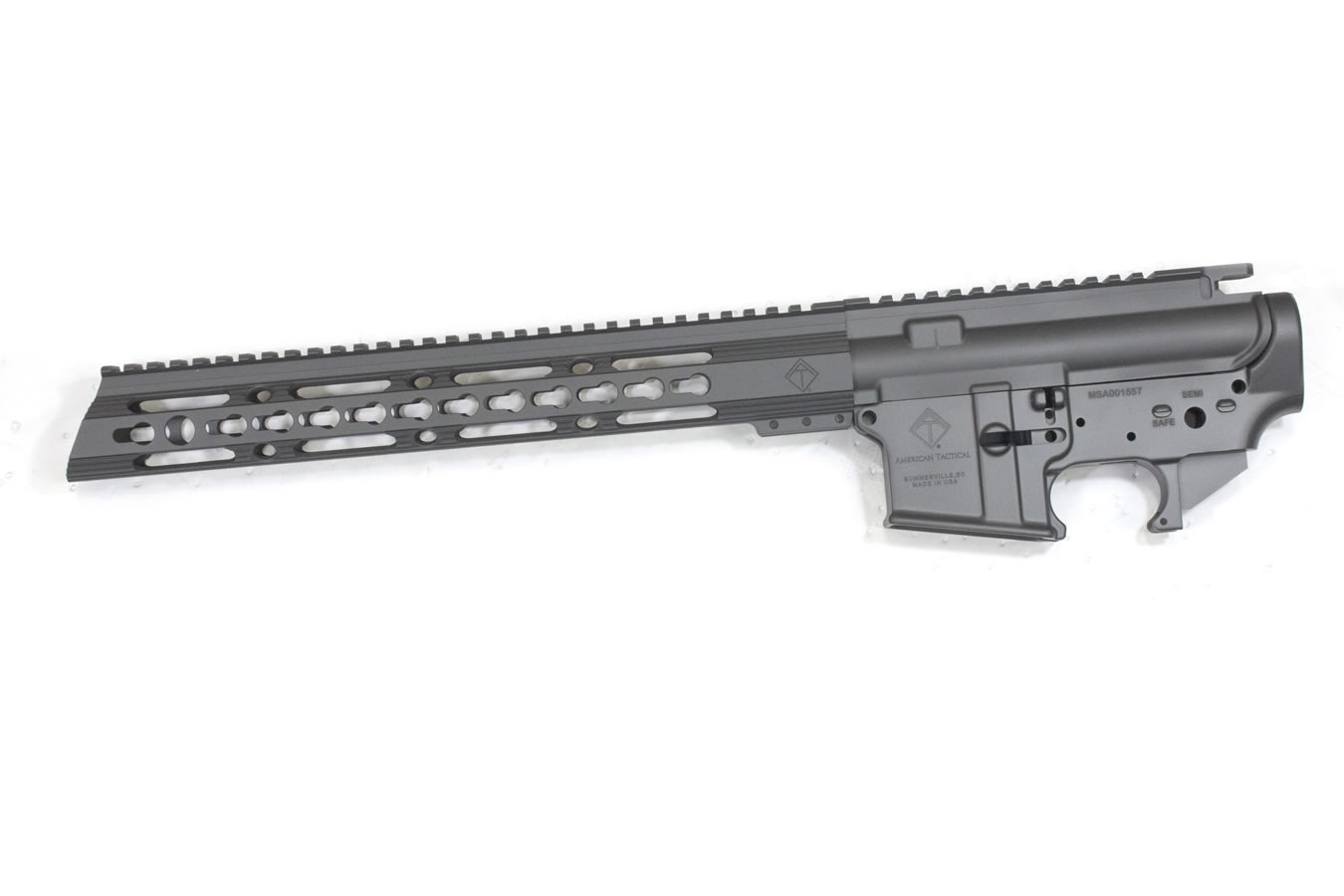 American Tactical MilSport 223/5 56 Upper/Lower Receiver Combo with Sniper  Gray Finish