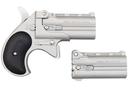 SATIN DERRINGER WITH 2 BBL 38SPL 9MM