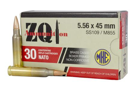 ZQI 5.56x45mm NATO SS109/M855 62 gr FMJ 30/Box