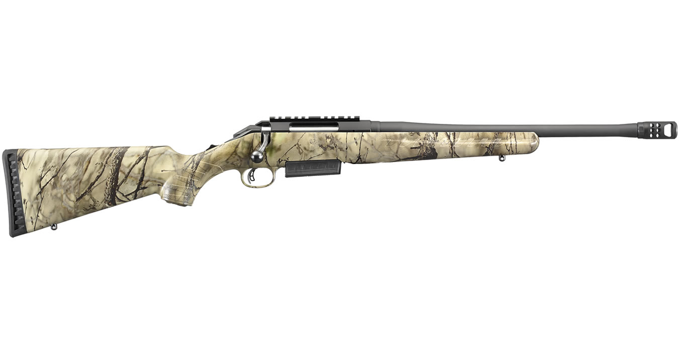 Ruger American Rifle Ranch 450 Bushmaster with Wild Camo IM Brush Stock
