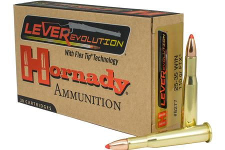 Hornady 25-35 Winchester 110 grain FTX LEVERevolution 20/Box