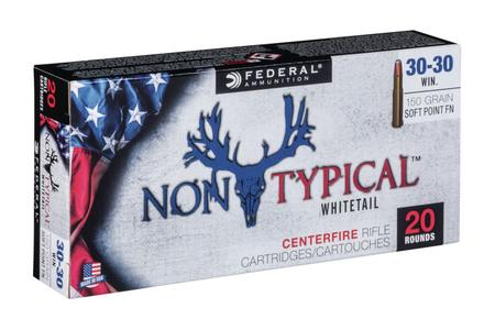 FEDERAL AMMUNITION 30-30 Win 150 gr Soft Point Non Typical Whitetail 20/Box