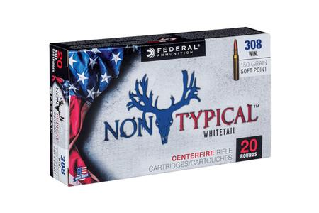 FEDERAL AMMUNITION 308 Winchester 150 gr Non-Typical Soft Pont 20/Box