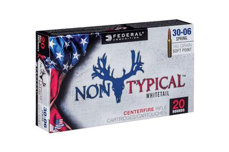 FEDERAL AMMUNITION 30-06 Springfield 180 gr Non-Typical Soft Point 20/Box