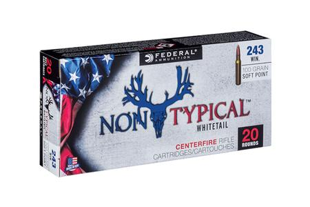 Federal 243 Winchester 100 gr Non-Typical Soft Point 20/Box