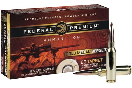 Federal 6.5 Creedmoor 130 gr Hybrid OTM Gold Medal Berger 20/Box