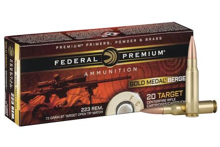 FEDERAL AMMUNITION 223 Rem 73 gr Gold Medal Berger BT Target 20/Box