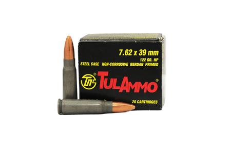 TULA AMMO 7.62x39mm 122 gr Hollow Point Trade Ammo 20/Box