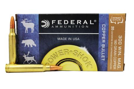 FEDERAL AMMUNITION 300 Win Mag 180 gr Power-Shok Copper HP 20/Box