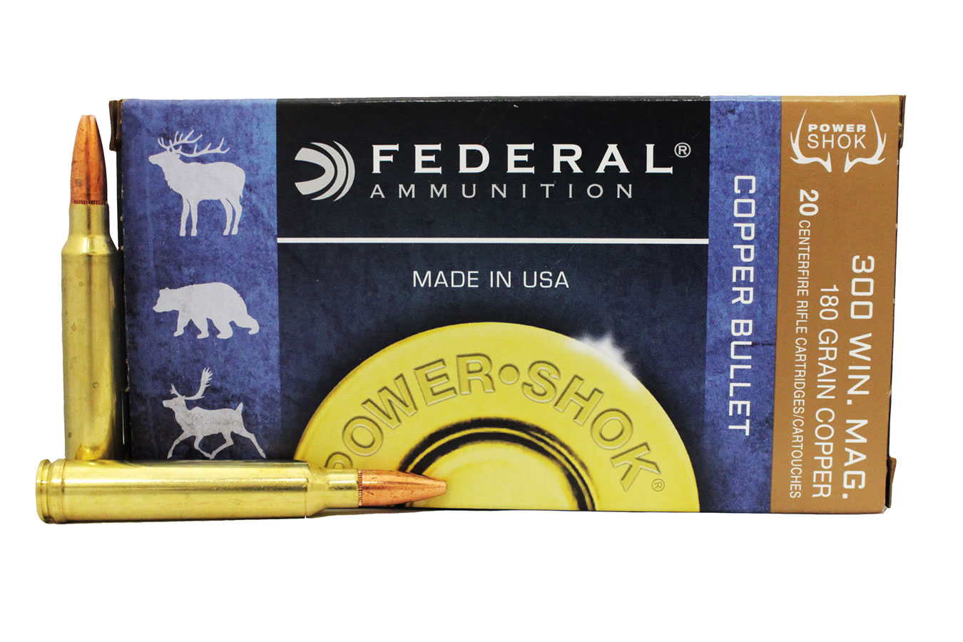 300 WIN MAG 180 GR COPPER POWER-SHOK