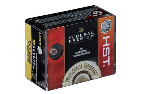 FEDERAL AMMUNITION 9mm 147 gr HST Jacketed Hollow Point Personal Defense 20/box