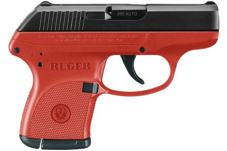 RUGER LCP 380 ACP BLACK/RED TITANIUM