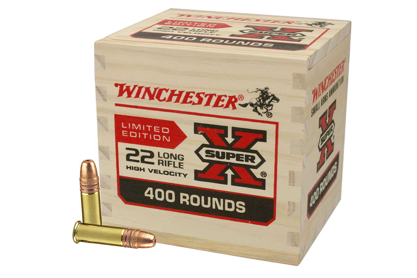 WINCHESTER AMMO 22LR 36 GR COPPER HP WOODEN BOX 400/BX