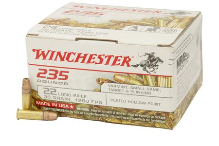 Winchester 22LR 36 gr Copper Plated Hollow Point 235 Round Brick