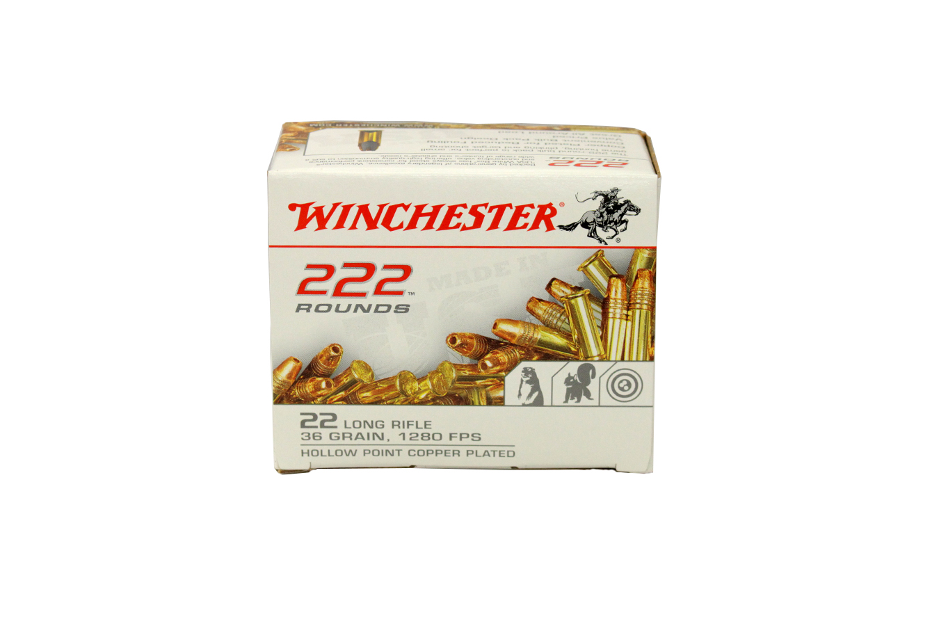 22 LR 36 GR COPPER PLATED HP 222 RDS