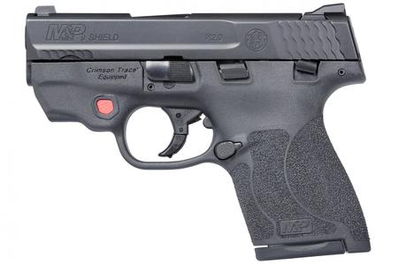 Smith & Wesson M&P9 Shield M2.0 9mm Centerfire Pistol with Integrated  Crimson Trace Red Laser an
