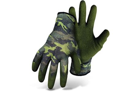 HI-VIS NYLON KNIT, LATEX PALM-CAMO