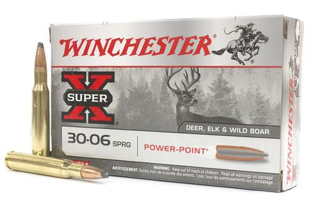 WINCHESTER AMMO 30-06 Springfield 165 gr Power Point Super X 20/Box