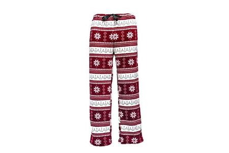 NORDIC CORAL FLEECE LOUNGE PANTS