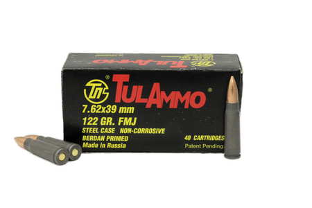 TULA AMMO 7.62x39mm 122 gr FMJ Steel Case 40/Box