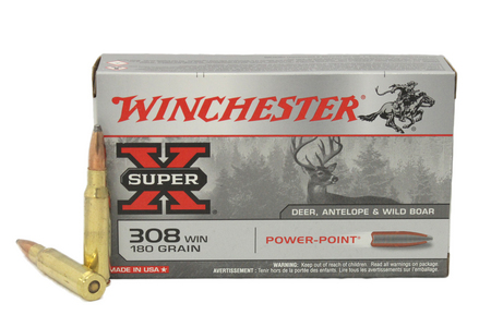 WINCHESTER AMMO 308 Win 180 Gr Power-Point Super X 20/Box