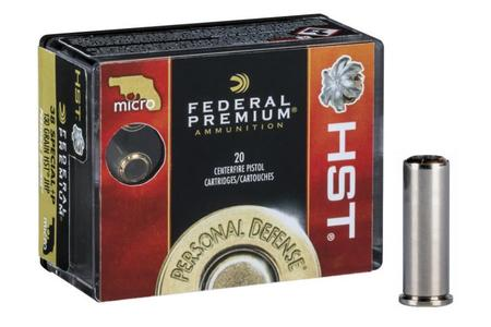 FEDERAL AMMUNITION 38 Special +P 130 gr HST JHP Personal Defense Micro 20/Box