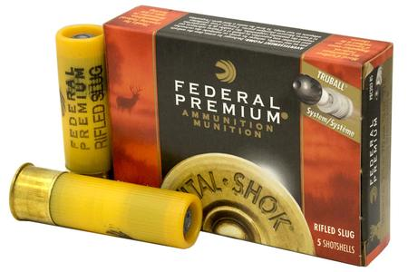 FEDERAL AMMUNITION 20 Gauge 2-3/4 In 3/4 oz. Rifled Hollow Point Slug Vital-Shok 5/Box