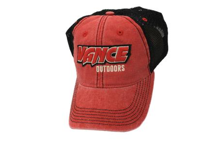 VANCE OUTDOORS RAISED LOGO HAT RED/BLACK