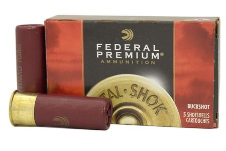 FEDERAL AMMUNITION 12 Gauge 2-3/4 in 12 Pellets 00 Buck Vital-Shok 5/Box