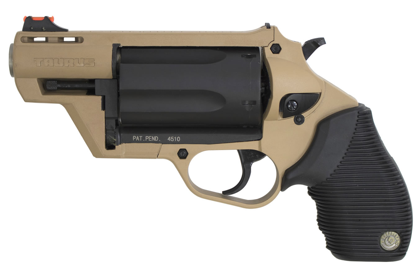 Taurus Judge Public Defender Poly 45/410 Flat Dark Earth Polymer Frame  Revolver | Sportsman's Outdoor Superstore
