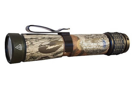 BROWNING ACCESSORIES Alpha Max Tactical Hunter Camo Flashlight LED Aluminum Mossy Oak Break-UP Camo