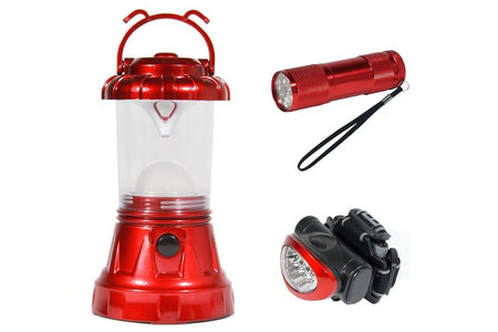 NBS Sona 3 Piece Camping LED