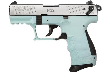 WALTHER P22 QD 22LR WITH ANGEL BLUE FRAME
