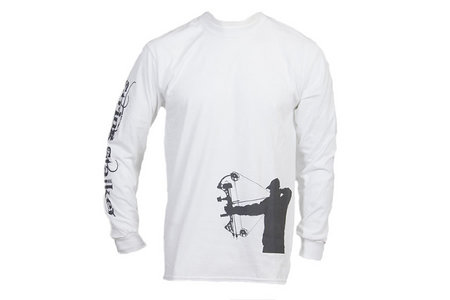 259854937e71a String Stalker Bow Hunter Hip and Sleeve Long Sleeve Tshirt