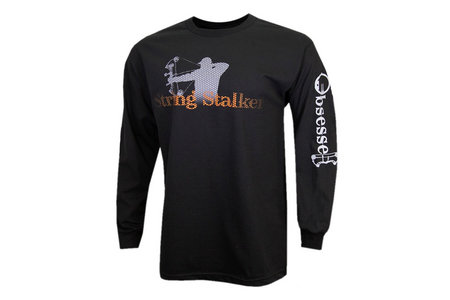 7855dd8ad0b5d String Stalker Bow Hunting Obsessed Long Sleeve T-Shirt