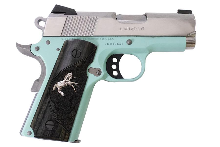 Colt Defender 9mm with Robins Egg Blue Cerakote Frame | Sportsman\'s ...